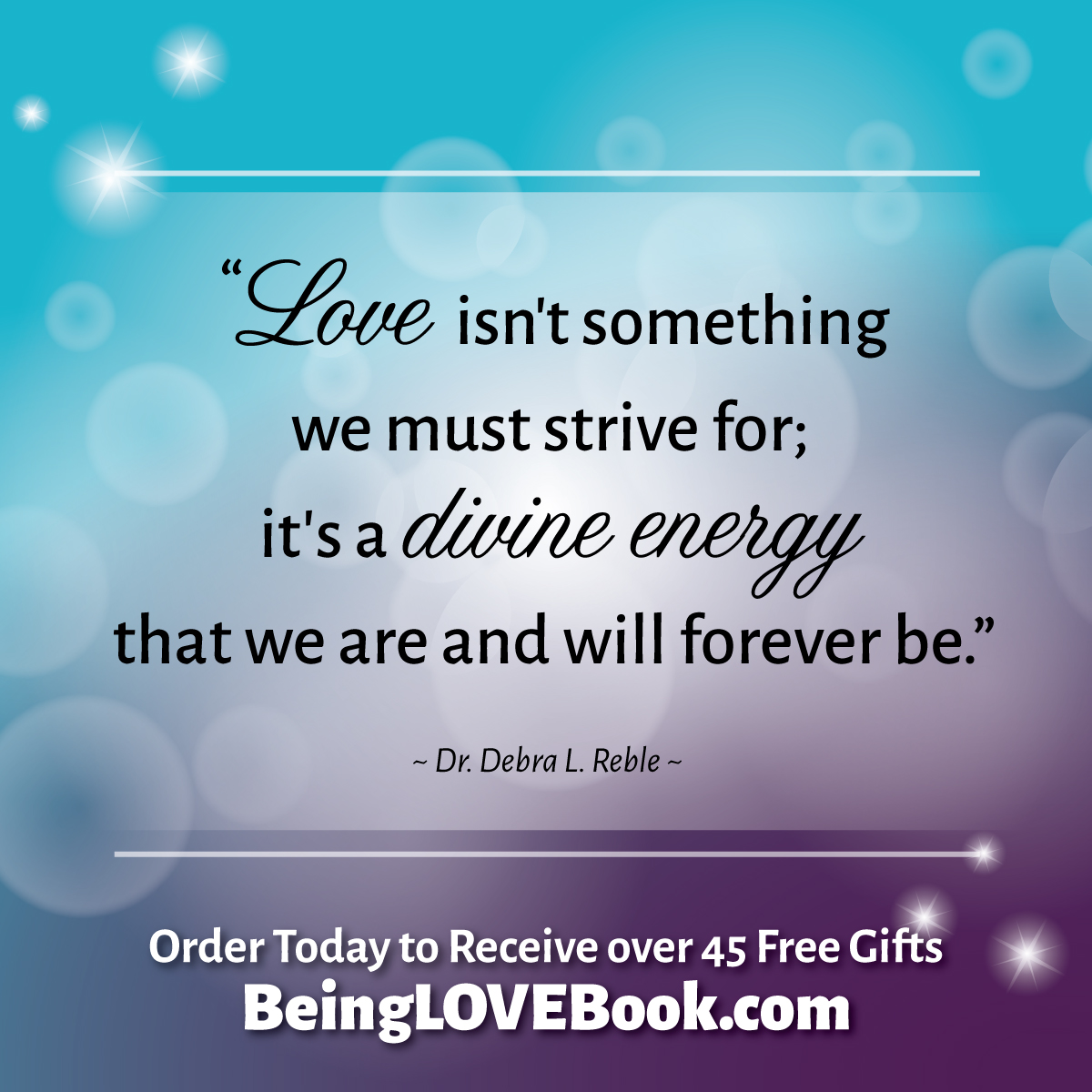 A manifesto of Love! Order your copy of #BeingLove by Dr. Debra Reble today and receive over 45 personal and spiritual development gifts--for a LIMITED TIME! www.BeingLoveBook.com