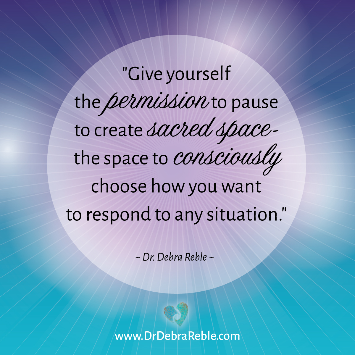 Website To Make Picture Quotes: QUOTE: Give Yourself Permission To Pause To Create Sacred